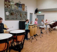 Foto uit album: instrumenten carrousel groep 5a